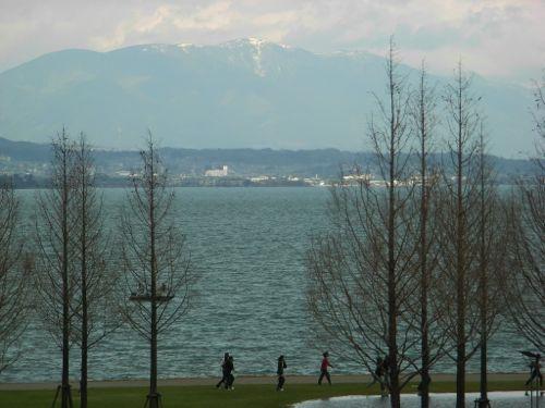 <コラボ滋賀から見える比叡山>