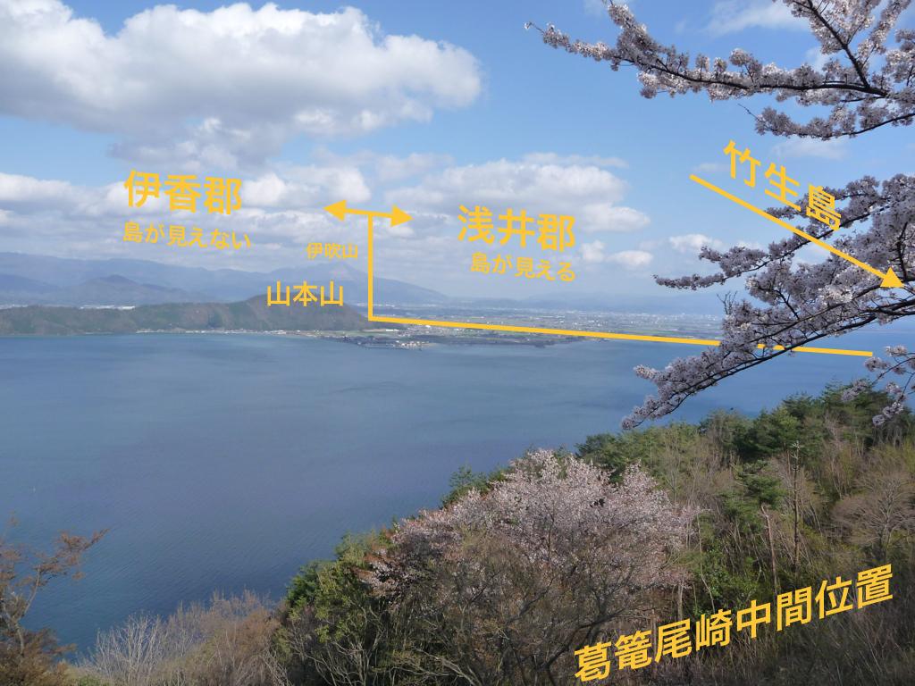 <竹生島の見える境界が郡の境界か?という妄想>