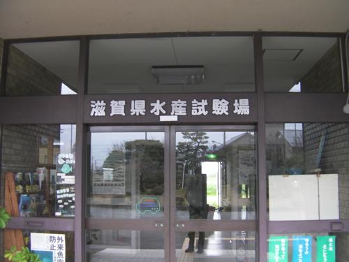 <滋賀県水産試験場の玄関>
