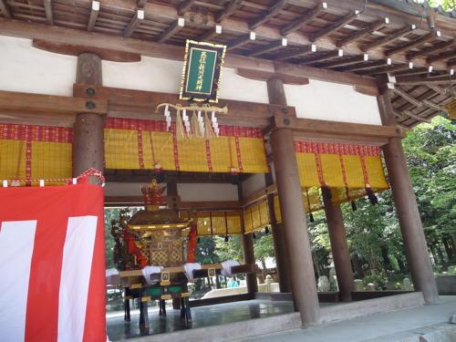 <下新川神社 拝殿>