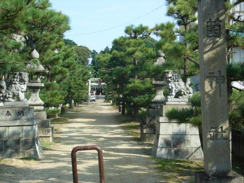 <菌神社の参道>