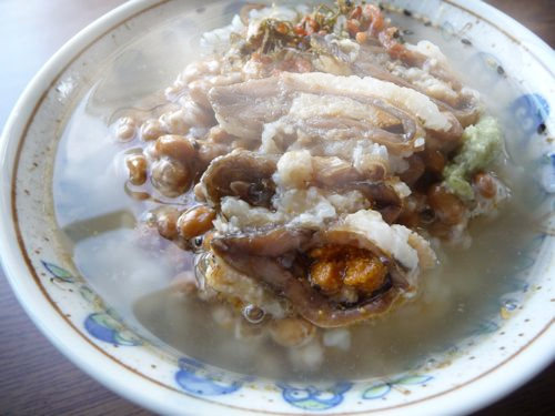 <納豆鮒寿司茶漬け>