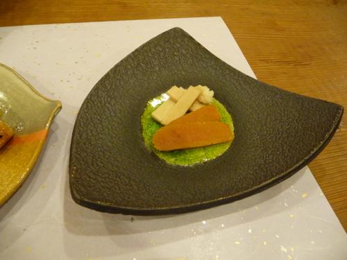 <徳山鮓にて カラスミと豆腐を発酵させたもの>