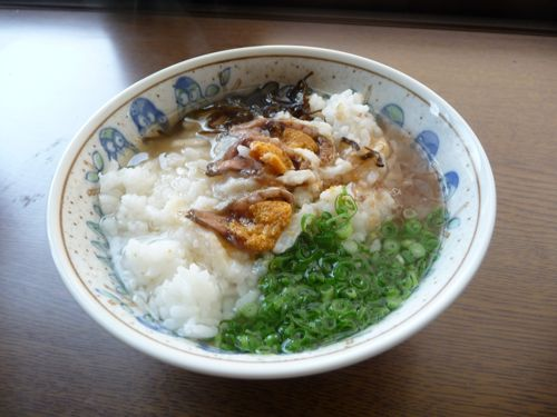 <試作した鮒寿司茶漬け>