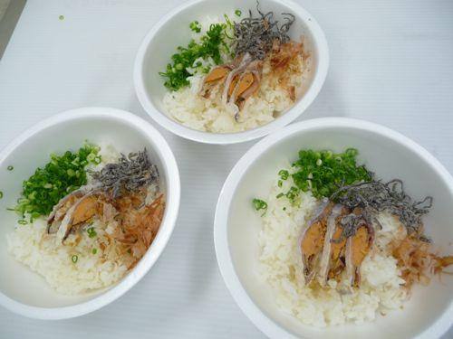 <イベント用の鮒寿司茶漬けの試作 お湯を入れる前>