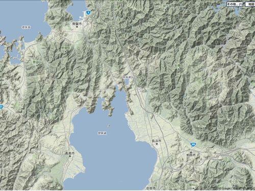 <滋賀県北部の地形>