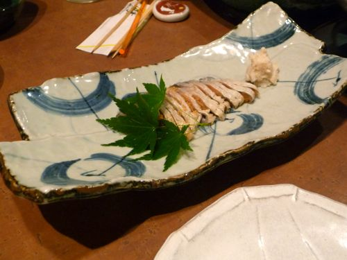 <郡山の板前さんがスライスした鮒寿司>