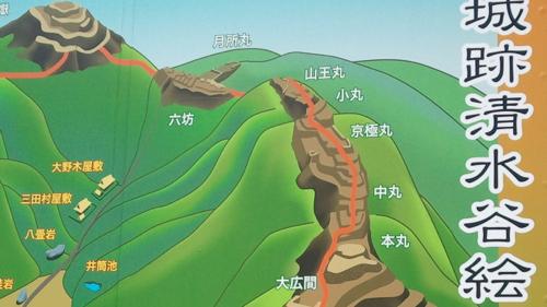 <小谷城の構え>